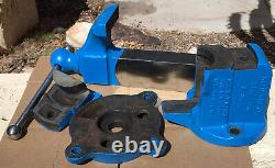 REED 404 SWIVEL JAW machinist Bench Vise, swivel base, 4 grooved jaws, 57 lbs