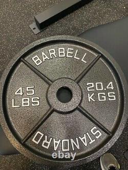 Sale! New 45LB PAIR (Total 90LB) Machined Olympic Weight Plates