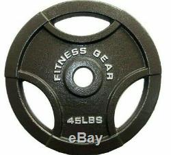 Set of 2 45 lbs Olympic Barbell Cast Iron Weight Plates Fitness Gear New