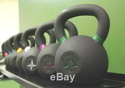 Strencor EKG Kettlebell Black Cast Iron Color-Coded 32 kg (70 lbs)