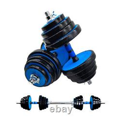 Totall 66 LB Weight Dumbbell Set Adjustable Gym Home Barbell Plates Body Workout