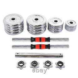 US 66lb Dumbbell Set Adjustable Dumbbells Chrome weights cap 552 30kg NEW Weight