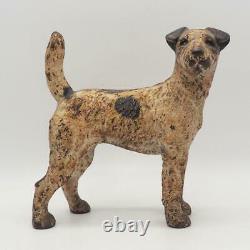 Vintage 9 Hubley Cast Iron Terrier Dog Door Stop 6 Lbs 2 oz
