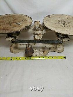 Vintage Antique Detecto Balance Scale No. 2 Cast Iron 10 Lb New York USA