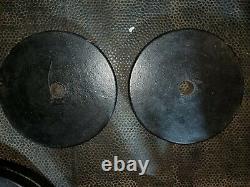 Vintage Jackson Barbell Co Jackson PAIR Pr 2 x 25 LBS LB Plates = 50lb Total