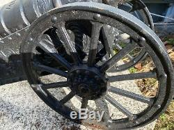 Vintage Large 35 Big Cast Iron Cannon, weights about 100lb