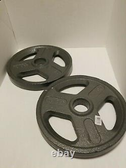 Weider 25 Lb Olympic 2 Weight Plates Set of 2 50lbs Total Pounds New Fast