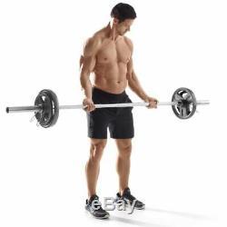 Weider Cast Iron Olympic Hammertone 300 Lb Weight Set HOPH300 45 35 25 10 5 2.5