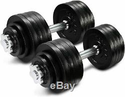 YES4ALL 105 lb Adjustable Dumbbells Weight Set with Cast Iron Weights