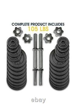 Yes4All 105 lb Adjustable Dumbbell Weight Set (2 x 52.5 lb) FREE PRIORITY SHIP
