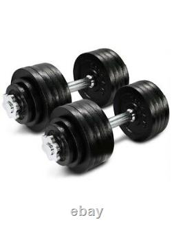 Yes4All 105 lb Adjustable Dumbbell Weight Set (2 x 52.5 lb) Like Bowflex