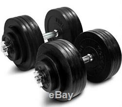 Yes4All 200 lbs Adjustable Dumbbells Weight Set with Cast Iron Weights
