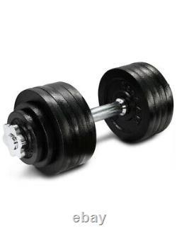 Yes4All 52.5LB Adjustable Dumbbell Weights Cast Iron Chrome Handle SINGLE ONLY