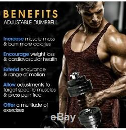 Yes4all 190 LBS Weights Adjustable Dumbbells w Connector Bar PRIORITY SHIP