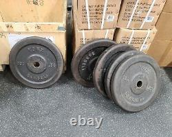York Barbell Weights 100 lb. Olympic Plates Rare Vintage Plates Made in US