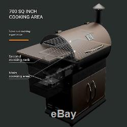 Z GRILLS Wood Pellet Grill 8 in 1 Smoked Grill 700 SQIN Cooking Area, 20 lb