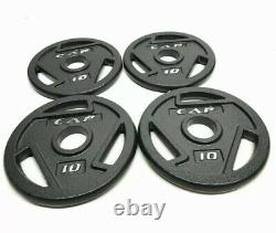10 Lb Cap Olympic 2 Weight Plates Set (4x) 40 Lbs Total-new-free Priority Ship