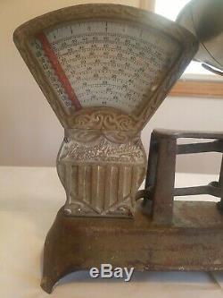 1910 National Antique Magasin Spécialisé Co. 2 Lb Bonbons Échelle En Fonte De Travail
