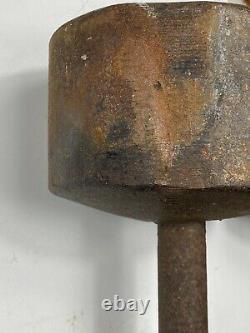 (2) 50 Lb Vintage York Roundhead Dumbbells Solid Free Shipping Haltérophilie