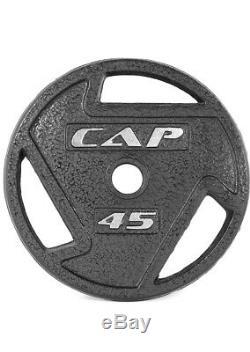 2 Cap 45 Lb Olympic 2 Plaques De Poids De 2 Pouces (total 90 Lbs) Chaque 45lbs