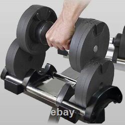 2x Poids Haltères Réglables (4.4-70.5 Lb / 2-32 Kg) Single Sync Set Gym Pair
