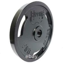 335lb 2 Olympique Weight Plate Set, Plaques Enduites De Poudre, 100% American Made