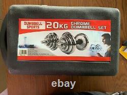 44lb Dumbbell Set Haltères Réglables Chrome Poids Cap 552 20kg Nouveau Poids