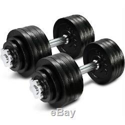 52. Lbs Haltères Réglables Paire (total 105 Lb) Haltères Home Gym Exercice