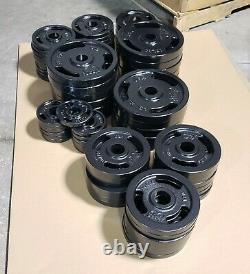 580lb Olympic Weight Plate Set 2, Fer À Roulettes Usiné, Fabriqué Américain, 26 Plaques