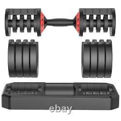 5-levels 6.6 To 44 Lbs Réglable Dumbbells Speedy Handle Gym Hommes/femmes
