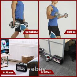 66lb Dumbells Paire Gym Poids Haltère Body Building Free Weight Set Réglable
