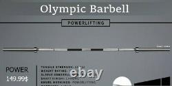 86 Chrome Olympic Barbell Soulever Bar Weight Workout Gym Bench 700 Lb