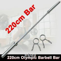86 Chrome Olympic Barbell Soulever Bar Weight Workout Gym Bench Workout 330 Lb