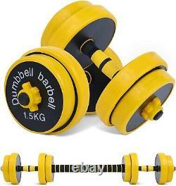 88lbs Réglable Haltère Set Paire Barbells New Gym Workout Cap