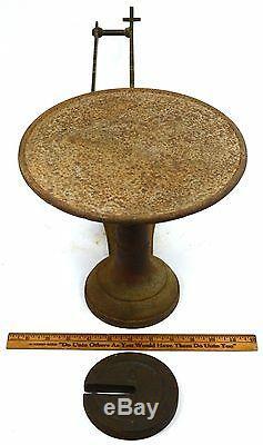 Antique Fairbanks Candy 3-lb Échelle Fonte Et Laiton 3-toe Crow's Foot! Crowfoot