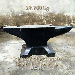 Antique Noir Très Heavy Iron Anvil Blacksmith Outilllage Collection 54 Lbs