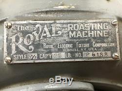 Antique Royal Roaster # 5 1/2 Peanuts Fonte Des Capacités Café 25lb Début Des Années 1900