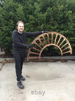 Art Déco-window Arch-door Arch-antique-vintage-cast Iron-61.5 Large-78 Lb