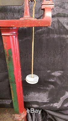 Au Début De 1900 Cast Vintage Fer 200 Lb Howe Plate-forme Échelle