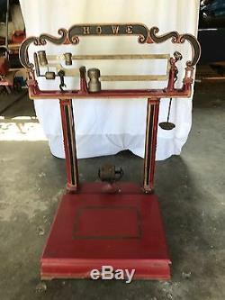 Au Début De 1900 Cast Vintage Fer 200 Lb Howe Plate-forme Échelle Excellent Etat