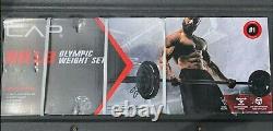 Cap 110lb Olympic Weight Set (2x 25lb, 2x 10lb, 2x 5lb Plates + 30lb Bar)