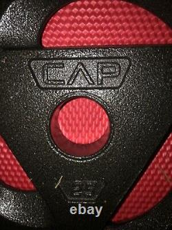 Cap 2 25 Livres Lbs 2 Olympic Weight Plate Set Barbell Weights 50 Lbs Total