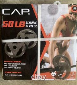 Cap 50 Ensemble De Poids De Plaque Olympique Lb (2) Plaques Olympiques De 25 Lb Livraison D'exploitation
