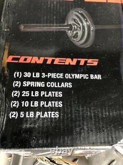 Cap Barbell Olympic Weight Set 110 Lbs Avec Plaques