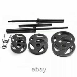 Cap Barbell Olympic Weight Set 110 Lbs Avec Plaques Gratuites Et Fast Shipping