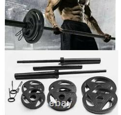 Cap Barbell Olympic Weight Set 110 Lbs Plaques New Free Fast Shiping In Hand