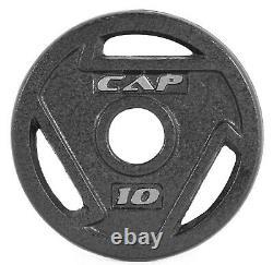 Cap Barbell Olympiques 2 Plaques De Préhension 2,5, 5, 10, 25, 35 Ou 45 Poids Lb Lb Choose