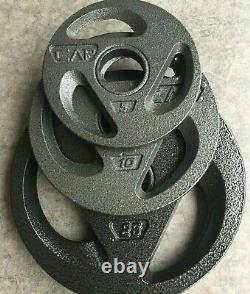 Cap Olympic 2 Grip Plaques De Poids, Barbells, Ensembles Toutes Tailles 25 10 5 Lb