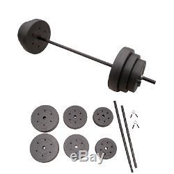 Cap Vinyle Réglable 100lb Barbell Set 5' Bar & Plaques Haltérophilie Fitness
