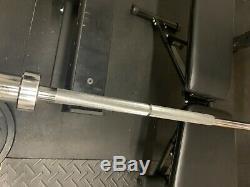 Capacité Bar Olympique Barbell Chrome 7ft X 2inch 1200lb! Comprend 2 Clips En Acier